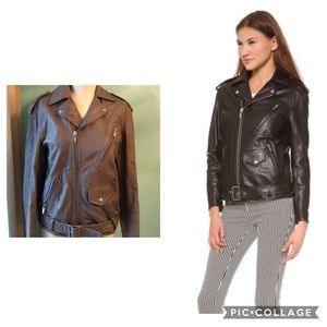 Theyskens' Theory gray moto biker leather …